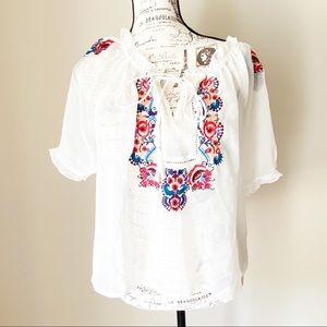 Sheer peasant style blouse